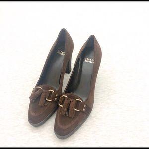 Stuart Weitzman Shoes - Stuart Weizmann suede tassel heels 9